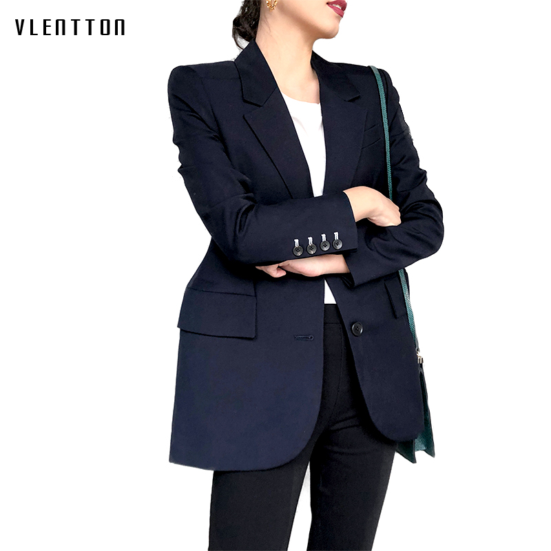 Spring New Women's Jackets And Blazers Solid Notched Collar Long Sleeve Jacket Coat Female Outerwear Office Suit Blazer Feminino