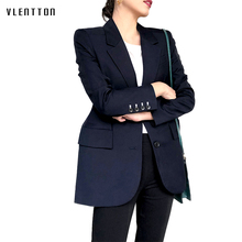 Spring New Women's Jackets And Blazers Solid Notched Collar Long Sleeve Jacket C