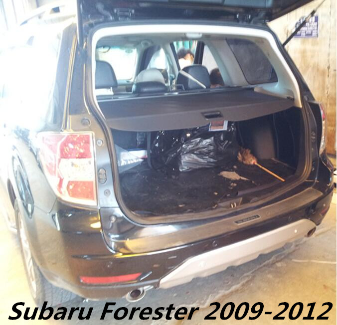 JIOYNG Car Rear Trunk Security Shield Shade Cargo Cover For Subaru Forester 2009 2010 2011 2012 (Black, beige) car rear trunk security shield cargo cover for ford escare kuga 2016 2017 high qualit black beige auto accessories