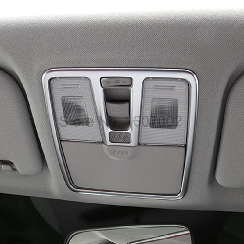 For Hyundai Creta IX25 2014 2015 2016 Interior Chrome Reading Light Lamp Shade Bezel Cover Molding Trim Protectors Accessories