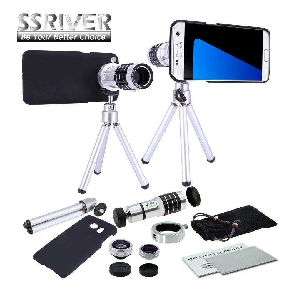 bilder für Für Samsung S7 12x Gopro Linse 12x Zoom Kamera objektivdeckel fall 12x Zoom Smartphone objektiv Stativ Fall Objektiv Für Galaxy S7