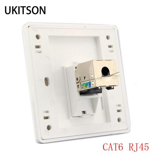 1 ポート猫 6 RJ45 イーサネット壁前面プレート押出ワイヤーソケット 86 × 86 ミリメートル Xbox ネットワーク LAN コード