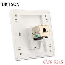 1 Port CAT 6 RJ45 Ethernet panel ścienny gniazdo przewodu wytłaczającego 86x86mm dla kabli sieciowych XBox