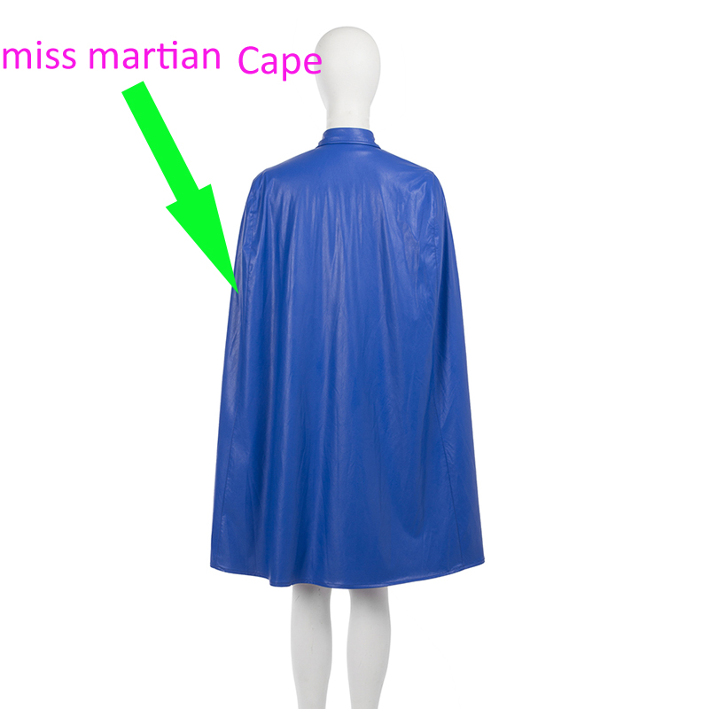 Original Young Justice Miss Martian COS Super Woman Young Justice Anime&Movie Cosplay Costume Halloween Only Cape Free Shipping