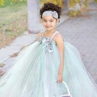 Flower Girl Wedding Tutu Dress Formal Tutu Baby Princess Bridesmaid Flower Girl Dresses Birthday Party Dancing Dress TS054