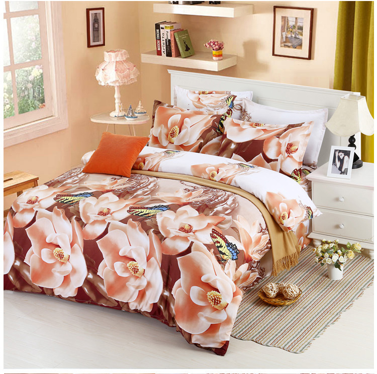 2017 Luxury 3D Bedding Sets Printed Animal 3D Flower Scenery Bed Set Bedclothes Duvet Cover/Sheet/Pillowcase BS33