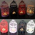 Nuevo estilo de Europa Retro candelabros de metal Hueco candelero decoración del hogar candelabros candelabros de la boda linternas marroquíes