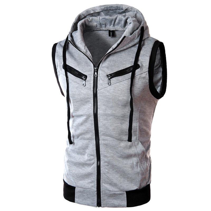 Popular Casual Sleeveless Hoodie Vest-Buy Cheap Casual Sleeveless ...