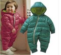 2016 Novo Macacão de Bebê do Inverno Do Velo Do Bebê Traje Do Bebê Menino roupas Menino Infantil Macacão de Algodão Acolchoado Bebê Roupas de Menina de 4 cores