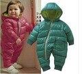 2016 Nuevo Invierno Batas Del Bebé Polar Bebé Bebé Traje Infantil de la ropa Del Muchacho de Los Mamelucos de Algodón Acolchado Ropa de Bebé Niña 4 colores