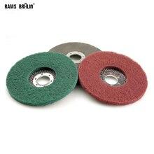 10 peças 125*8*22mm não tecido aleta moagem disco de polimento de náilon roda bulgarian angle grinder ferramentas para metal polonês