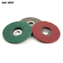 10 pieces 125*8*22mm Non woven Flap Grinding Disc Nylon Polishing Wheel Bulgarian Angle Grinder Tools for Metal Polish