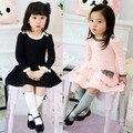 De 2 - 8 de vestido meninas bolo vestido vestido de algodão vestidos 2016 estilo coreano rosa sweety