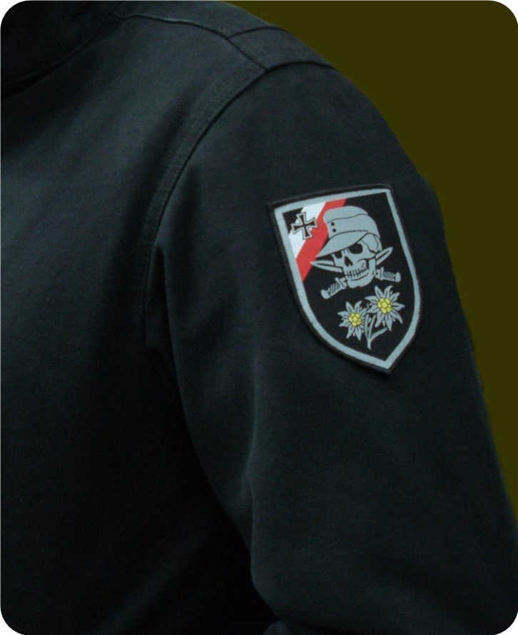 WW2 Bahasa Jerman Tengkorak Patch Tenun Patch