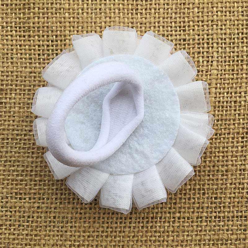 2 pcs Bleum Nhà Dây Tóc thời trang Trẻ Em Đàn Hồi HairBands Cao Su Cô Gái Mũ, Nón trẻ em trắng Thánh công chúa nhỏ Scrunchy