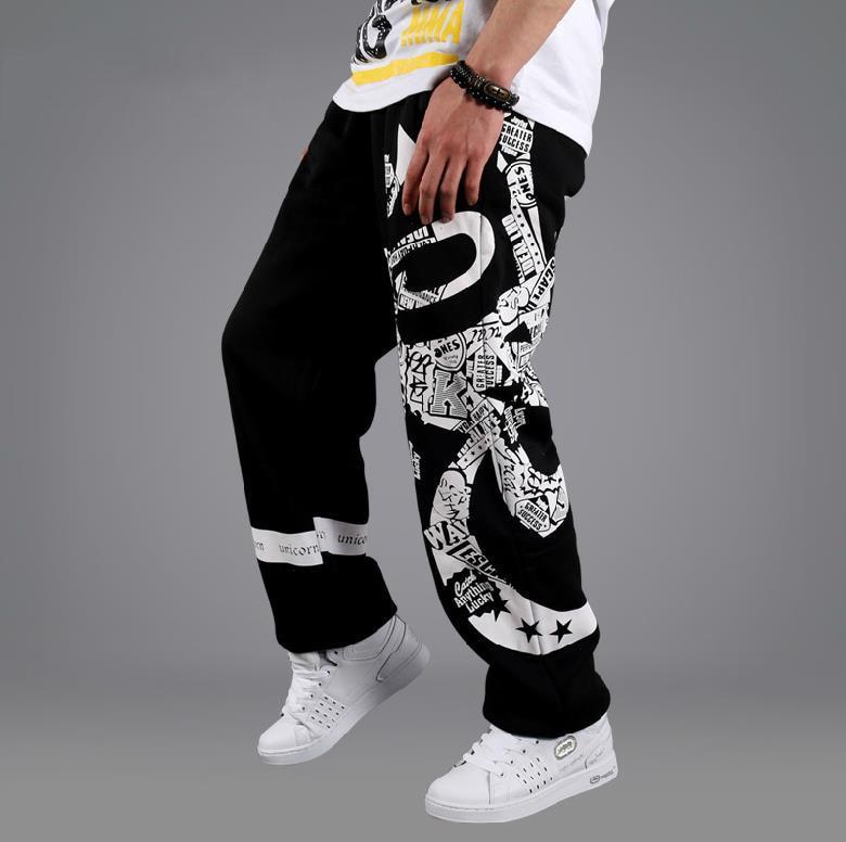 Suelta pantalones de pierna ancha pantalones de algodón de
