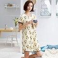2016 Brand Sleepshirts Cute Dress Sleep Homewear  Women Modal Sleepshirts Sweet Sleepwear Casual Lounge Dresses Sales!
