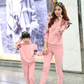 Family Clothing Active Clothing Sets clothes for Mother and Daughter Matching Clothing Family Set Clothes, Pink & White, HY26