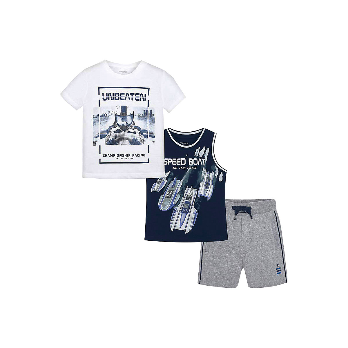 Фото - Baby's Sets MAYORAL 10678608 set of clothes for kids T-shirt legs shirt shorts girls and boys shein kiddie girls white striped side casual top and shorts two piece set clothes sets 2019 spring long sleeve kids suit set