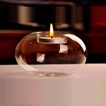 Стеклянный круглый подвесной светильник подсвечник вечерние домашний декор Romanti