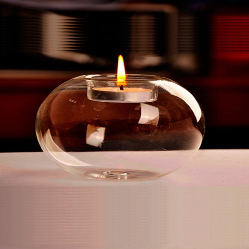 Buy Online  Glass Round Hanging Candle Light Holder Candlestick Party Home Decor Romanti