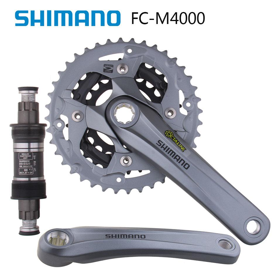 Bicycle Crank & Chainwheel Sweet-Tempered Shimano Alivio Fc M4000 Mountain Dike Crank Set Aluminium Crank Sprocket 40-30-22t Bicycle Crank & Chainwheel 3x9 Speed Refreshment