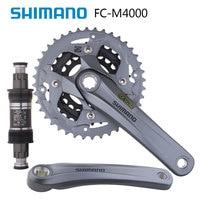 SHIMANO ALIVIO FC M4000 Mountain Dike Crank Set Aluminium Crank Sprocket 40 30 22T Bicycle Crank & Chainwheel 3X9 Speed