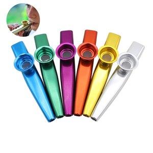 بسيطة تصميم خفيفة الوزن المزمار معدن من خليط الألومنيوم للغيتار أداة الموسيقى عشاق أداة 12*2.5 سنتيمتر 6 ألوان اختياري