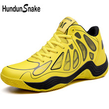 f149bb03804d Hundunsnake Yellow Men Basketball Shoes High Top Brand Sneakers For Basketball  Shoes For Kids Boys Leather