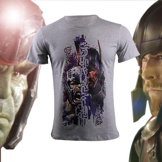 2017 Movie Thor 3 Ragnarok The Hulk Loki Gray Casual T shirt Short Sleeve Printing O-Neck T-shirts Halloween Tee Shirts J10