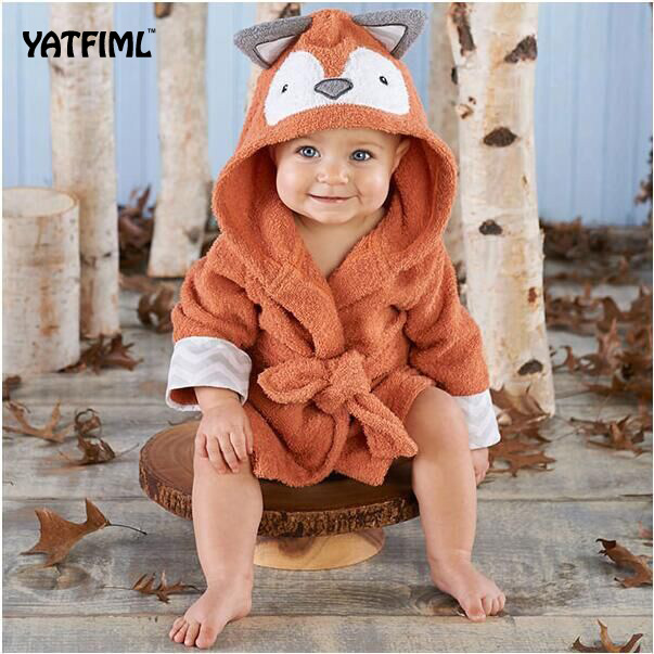 YATFIML Children Robes Flannel Pajamas Baby Bathrobe Kids Home Wear Baby Hooded Bathrobe Bath Towel Bath Terry Bathing Robe vintage color block skidproof flannel bath rug