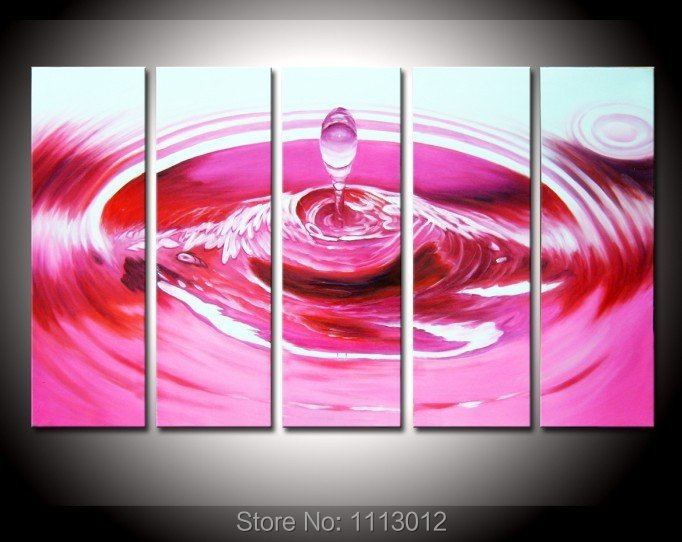 Лидер продаж высокое качество красный морской воды маслом на холсте 5 шт. Наборы для ухода за кожей стены Книги по искусству изображение для ...