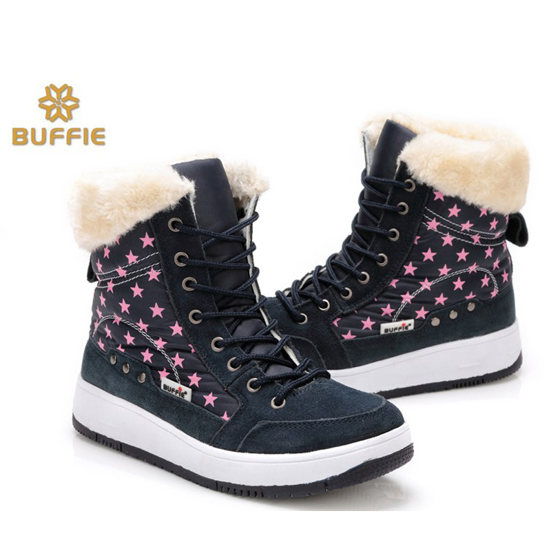 Shoes Women Flat Winter Ankle Autumn Snow Boots 2016 Female Lace Up Fur Boots Brand Outdoor Sport Girl Plus Size 41 Snow Boots