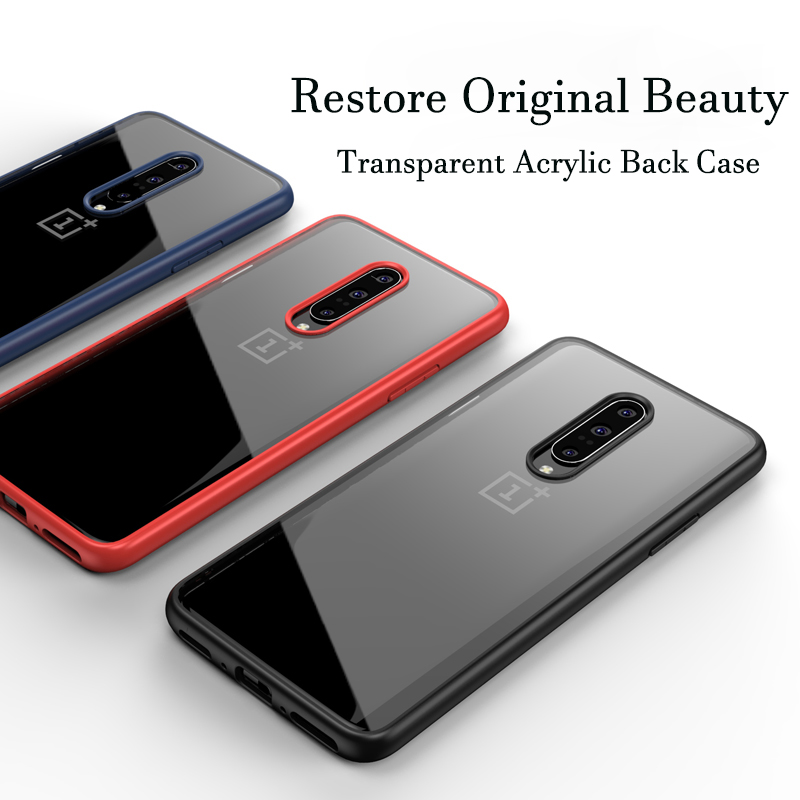 GKK Case For OnePlus 7 Pro Case Anti-knock Transparent Acrylic Reinforced Corner TPU Soft Silicone Cover For OnePlus 7 Pro Coque