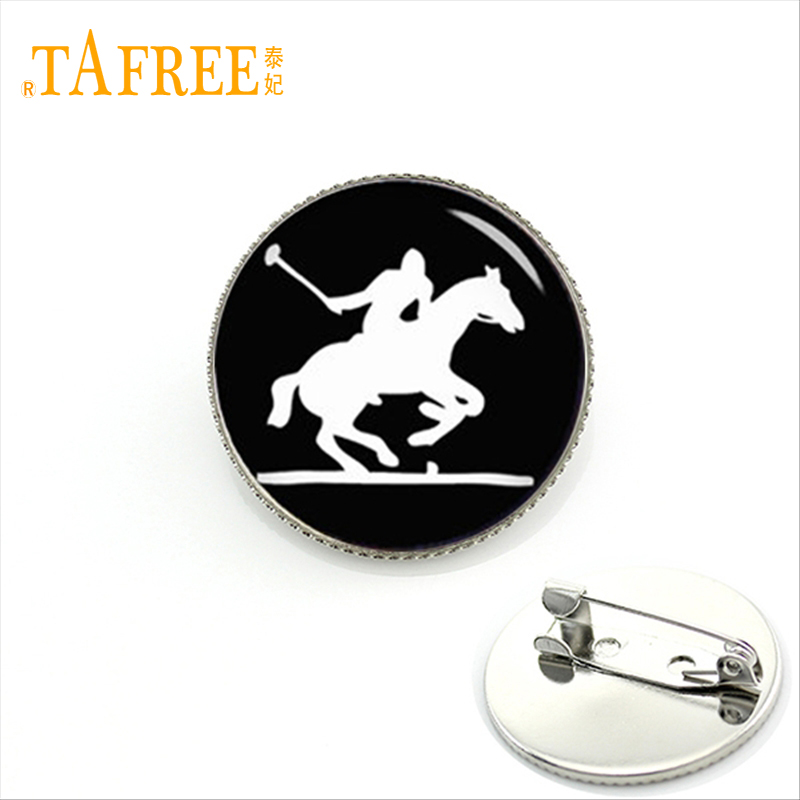 TAFREE Mustang Brooches Silver plated Hawaii Portugal four stringed plucke ukelele Brooches Sports Memorial gift KC171