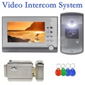 DIYSECUR Electric Lock 7 inch TFT Color LCD Display Video Door Phone Visual Intercom Doorbell ID Unlocking RFID Camera