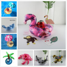 diamond ring Floating Flamingo Cup Holder Pool Swim Ring Water Toys Party Boats Baby Pool Toys Inflatable Unicorn Drink Holders(China)