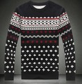 Fashion Sweaters Pullover Mens Jumpers Slim Jacquard Patchwork O-Neck Long Sleeve Knitted Pull homme Man Casual Knitwear M-XXL