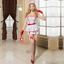 Women Lingerie Erotic Hot Nurse Cosplay Sexy Porno Babydoll Sleepwear Costume Underwear