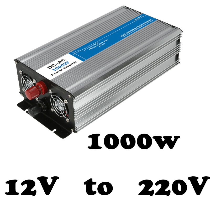 off grid pure sine wave 1000w inverter 12 volt 220 volt voltage converter,solar inverter LED Display full power AG1000-12-220 image