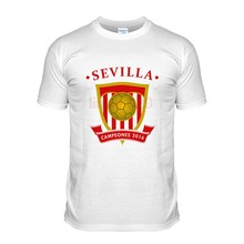 a13fa6fb New Brand-Clothing T Shirts 100% Cotton Sevilla Footballer Champions  Soccers Funny Clothing Casual
