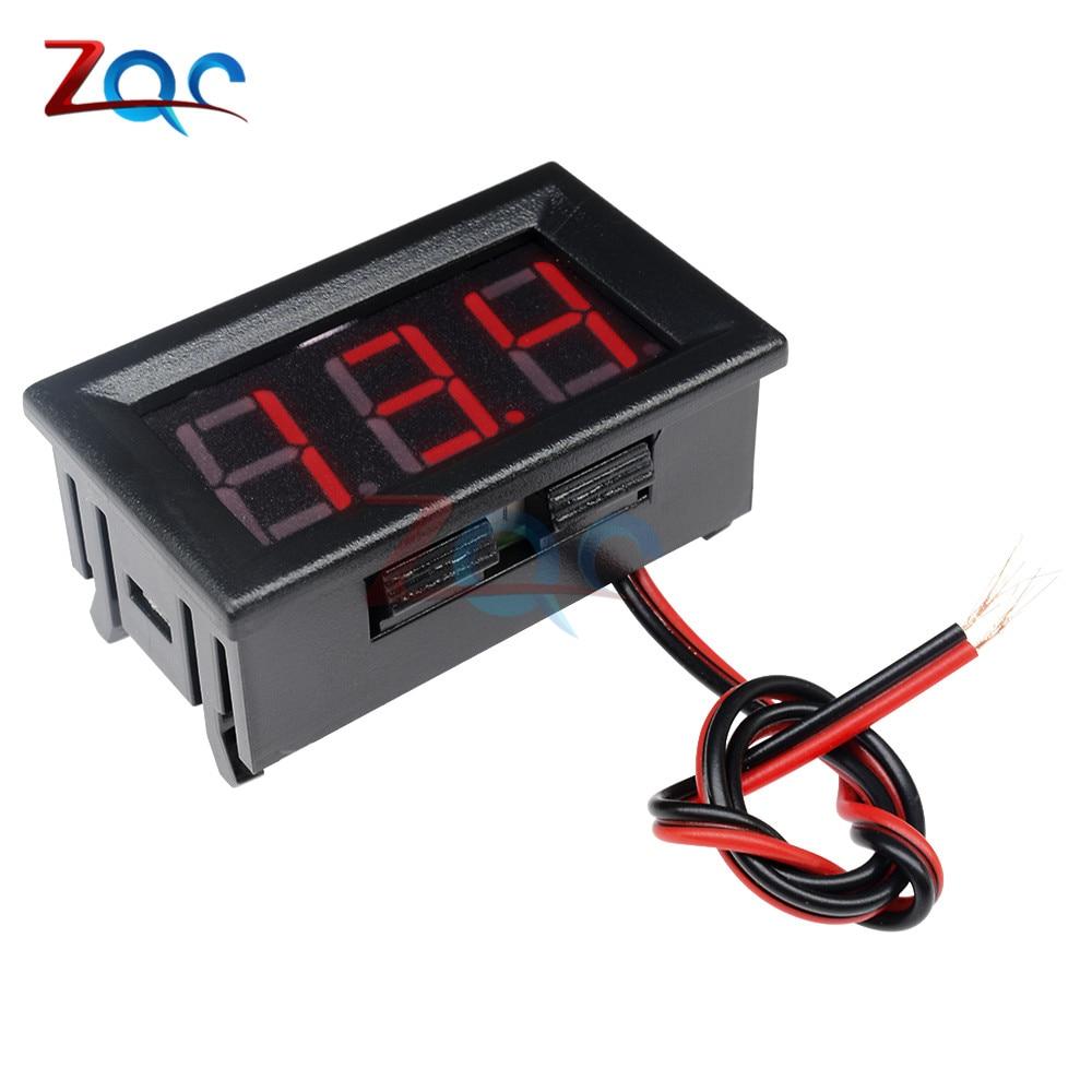 HTB1890pXlWD3KVjSZFsq6AqkpXaJ 0.56'' Mini LED Digital Voltmeter Detector DC 0-100V 12V 24V Voltage Capacity Monitor Volt Panel Tester Meter For Motorcycle Car