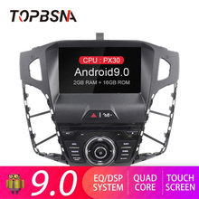 цена на TOPBSNA Android 9.0 Car DVD Player For Ford Focus 2012 2013 2014 2015 Multimedia GPS Navi 1 Din Car Radio stereo WIFI RDS Audio