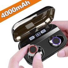 Беспроводной наушники, Bluetooth с сенсорным управлением Bluetooth гарнитура Шум шумоподавительipx 7 Водонепроницаемый наушники стерео наушники-вкладыши Наушники Xiaomi iPhone