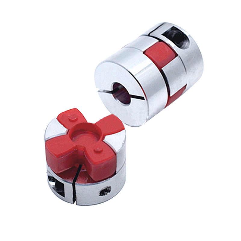 D25L30 shaft coupler ยืดหยุ่น Jaw Spider Plum Coupling shaft coupling 6.35/8/9.5/10/12 มม. stepper motor