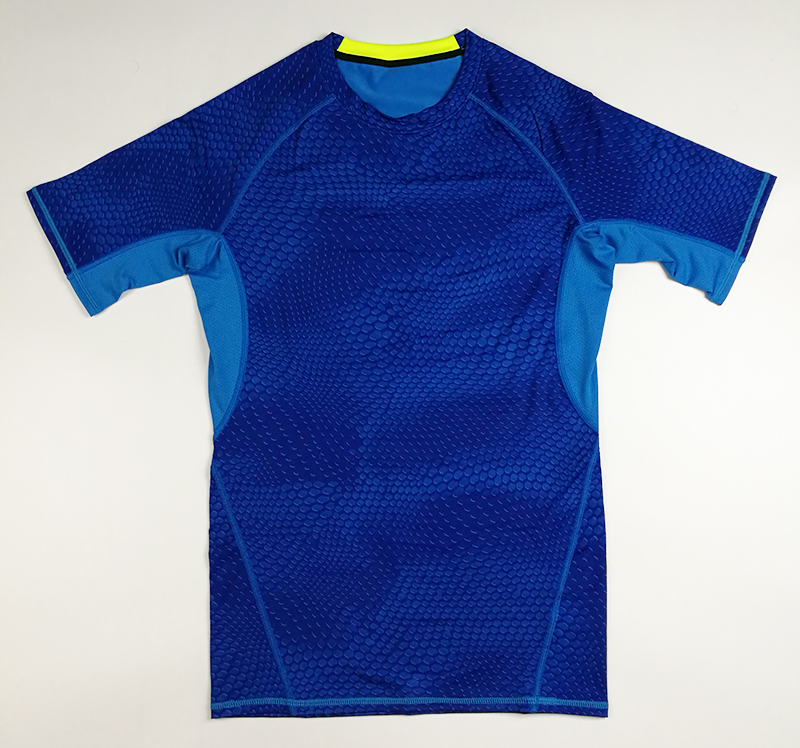 Männer Kompressionsstrumpfhose Shirt Base Layer Fitness Workout Tops - Herrenbekleidung - Foto 6