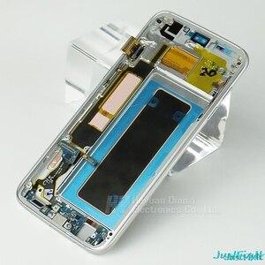 Image 5 - Super AMOLEDสำหรับSamsung S7 Edge G935F G935fd Burn In ShadowจอแสดงผลLcd Touch Screen Digitizerกรอบ5.5