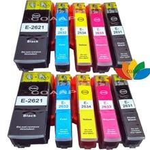 10X Printer ink cartridge for Compatible Epson Premium XP-600 XP-605 XP-700 26XL T2621,T2631,T2632,T2633,T2634