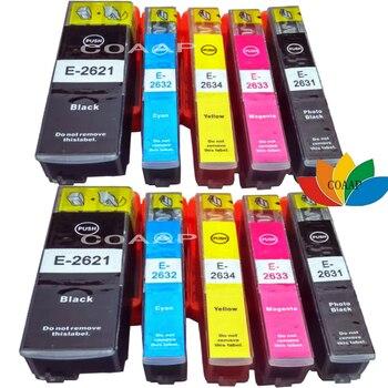 10x de impressora cartucho de tinta compatível para epson premium xp-600 xp-605 xp-700 para t2621 26xl, t2631, t2632, t2633, t2634