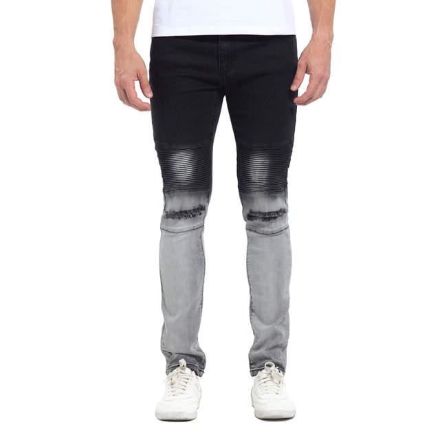 26ec04d2b7deb 2019 Newest Fashion Tie-Dye Hole Destroyed Mens Slim Denim Straight Biker  Skinny Jeans Men Ripped Jeans 514